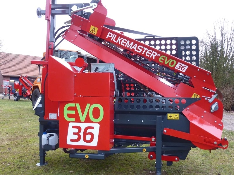 PILKEMASTER® EVO 36 Sägespaltautomat– rückwärtige Ansicht | Forsttechnik Könemann GmbH, 29643 Neuenkirchen