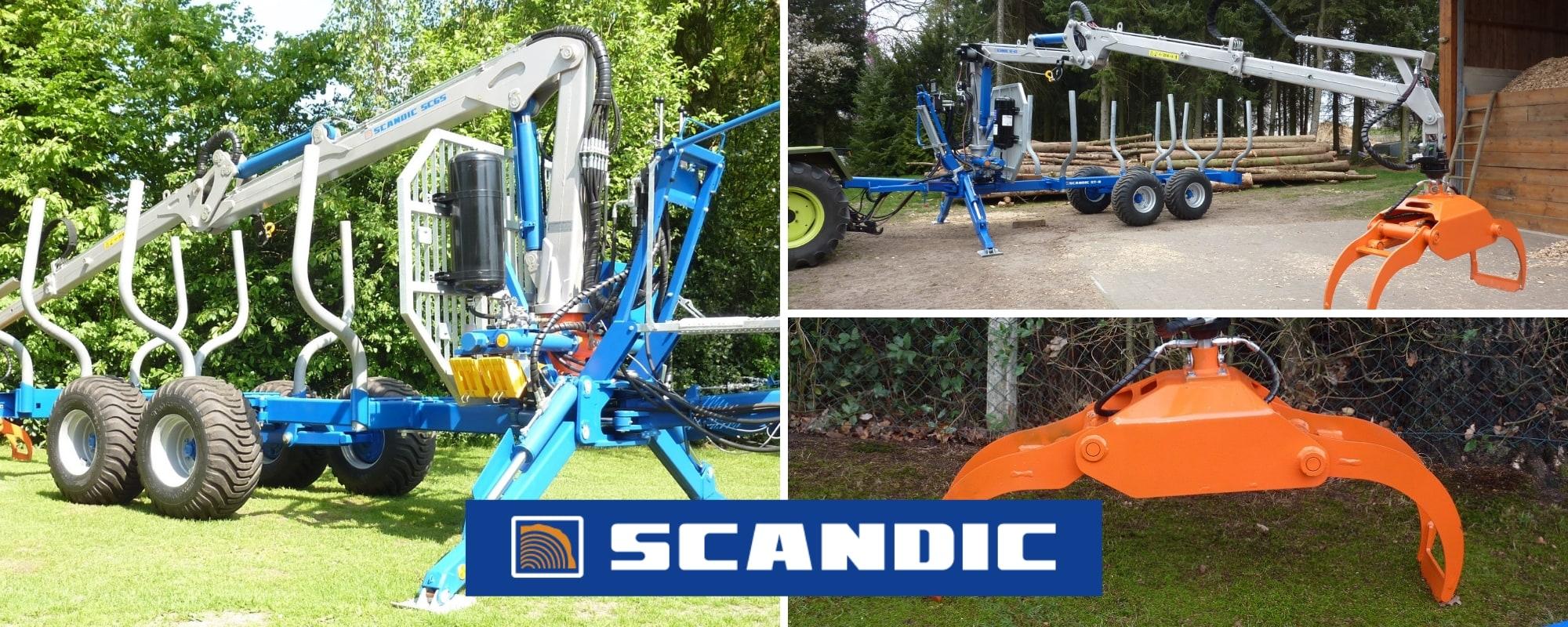 SCANDIC-Forstanhänger, -Forstkräne und -Greifer