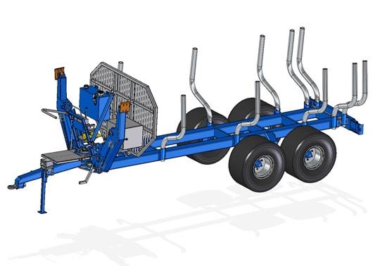 SCANDIC-Forstanhänger ST-12D mit 12.000 kg Tragfähigkeit