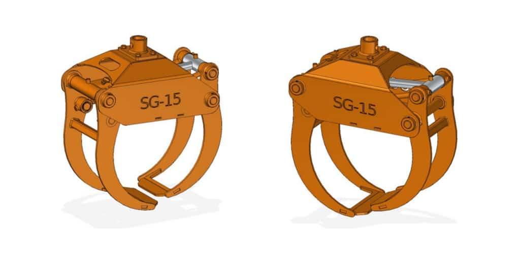 SCANDIC-Greifer SG-15 für SCANDIC-Forstkräne