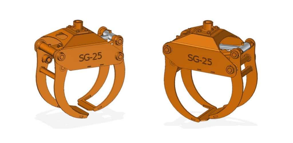 SCANDIC-Greifer SG-25 für SCANDIC-Forstkräne